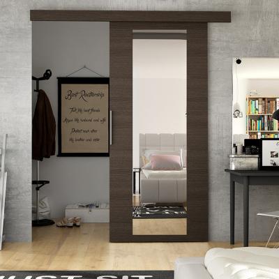 Levné Posuvné dveře: Posuvné dveře na stěnu ILAS IV. hnědé 90