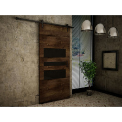 Levné Posuvné dveře: Posuvné dveře na stěnu Termisi 106 - jasan tmavý