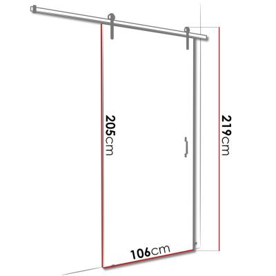 Levné Posuvné dveře: Posuvné dveře na stěnu Termisi 106 - sonoma