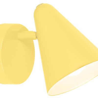 Levné Dětská nástěnná svítidla: Nástěnné bodové svítidlo do dětského pokoje AGOSTINO, žluté