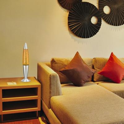 Levné Dětské lampičky: Dekorační lávová lampa GLITTER, žlutá