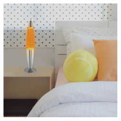 Levné Světelné dekorace: Dekorační lávová lampa GLITTER MINI, žlutá