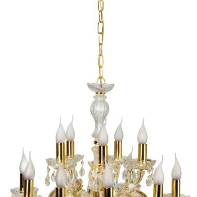 Levné Osvětlení do obývacího pokoje: Závěsný honosný lustr na řetězu MICHELOTTO, zlatý