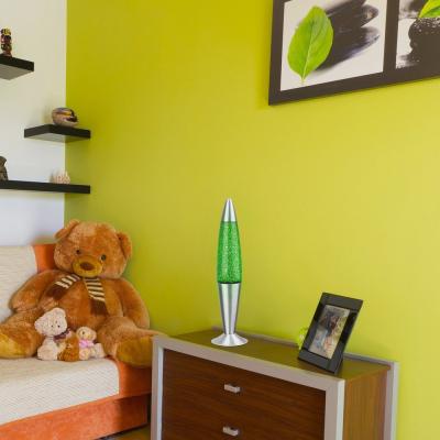 Levné Světelné dekorace: Dekorační lávová lampa GLITTER, zelená