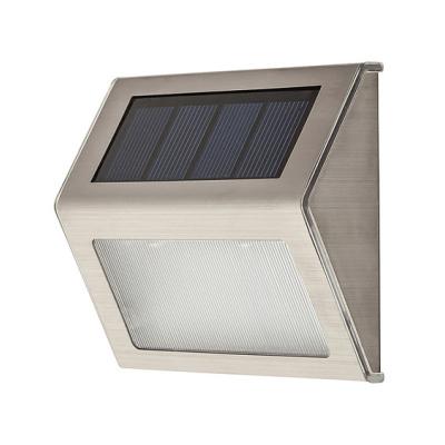 Levné Venkovní LED světla: Solární venkovní svítidlo SANTIAGO, stříbrné