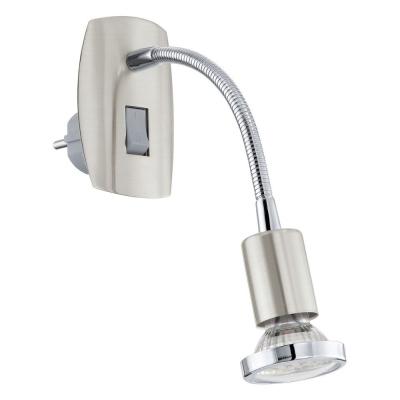 Levné Nástěnná svítidla s vypínačem: LED svítidlo do zásuvky MINI 4, stříbrné