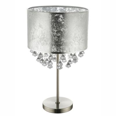 Levné Lampy a lampičky: Designová stolní lampa s křišťály AMY, stříbrná