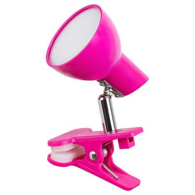 Levné Lampy a lampičky: Stolní LED lampička s klipem NOAH, růžová