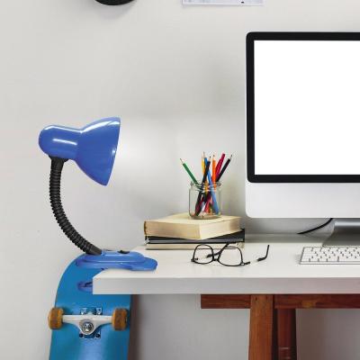 Levné Stolní lampy a lampičky: Dětská stolní lampa s klipem DENNIS, modrá