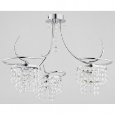 Levné Lustry a závěsná svítidla: Designový závěsný tříramenný lustr JADA
