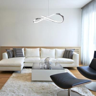 Levné Lustry a závěsná svítidla: LED designový závěsný lustr na lanku ANIELA
