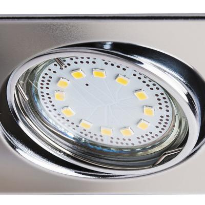 Levné Stropní svítidla: Sada LED zápustných flexibilních světel LITE, 240lm, 3000K, chromované, hranaté