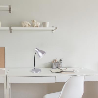 Levné Lampy a lampičky: Stolní lampa PATRIC, stříbrná