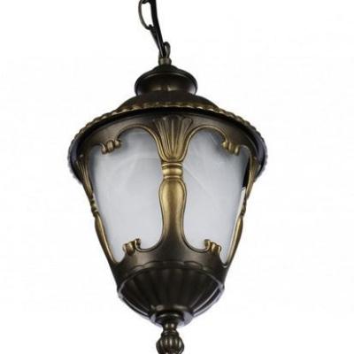 Levné Venkovní osvětlení: Venkovní závěsné osvětlení na řetězu TYBR, hnědé