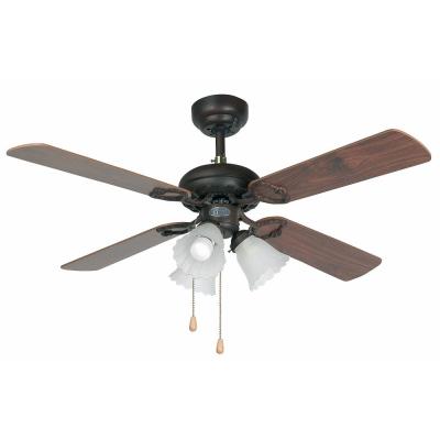 Levné Ventilátory: Reverzní stropní ventilátor s řetízkovým ovládáním a osvětlením FARO LISBOA
