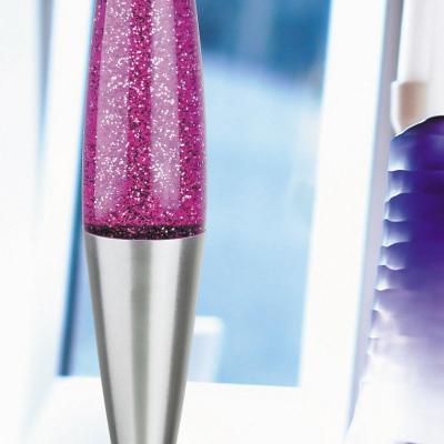 Levné Světelné dekorace: Dekorační lávová lampa GLITTER, fialová
