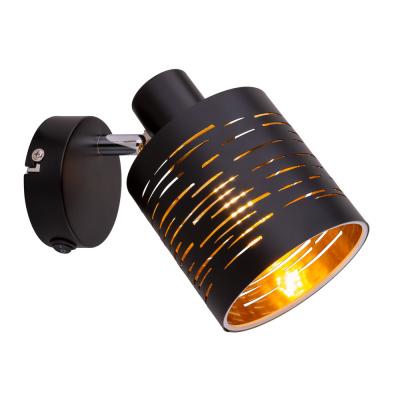Levné Nástěnná svítidla: Moderní nástěnné svítidlo TUNNO, černozlaté