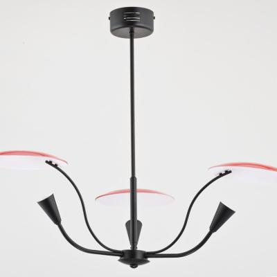 Levné Lustry a závěsná svítidla: Designový závěsný tříramenný lustr BLAINE, červený