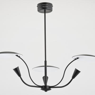 Levné Lustry a závěsná svítidla: Designový závěsný tříramenný lustr CLEO, černý