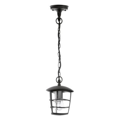 Levné Venkovní osvětlení: Venkovní závěsný lustr ALORIA, černý