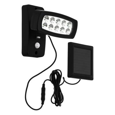 Levné Venkovní LED světla: Venkovní solární nástěnné LED svítidlo PALIZZI, černé