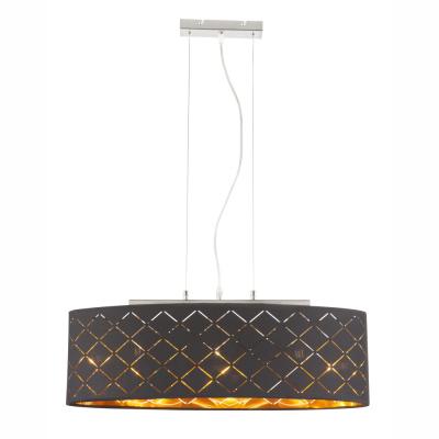 Levné Lustry na lanku: Závěsné osvětlení na lanku CLARKE, černozlaté