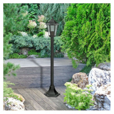 Levné Venkovní lampy: Venkovní stojací lampa VELENCE, 105cm, černá