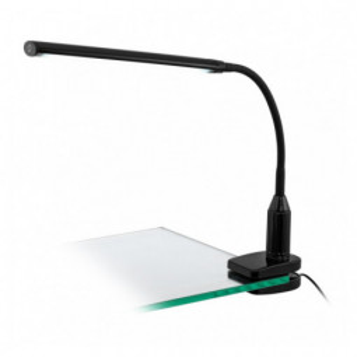 Levné Osvětlení: LED moderní stolní lampička s klipem LAROA, černá