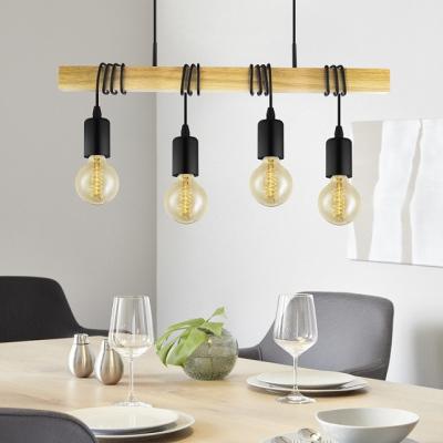 Levné Lustry a závěsná svítidla: Závěsné svítidlo nad jídelní stůl TOWNSHEND, černé