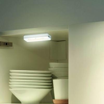 Levné Nástěnná svítidla: Solight LED světélka do skříní, komod a zásuvek, bílé