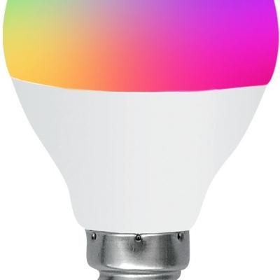 Levné LED diodové žárovky: Žárovka LED, E14 G45, 3W, barevná (měnící barvy), včetně dálkového ovladače