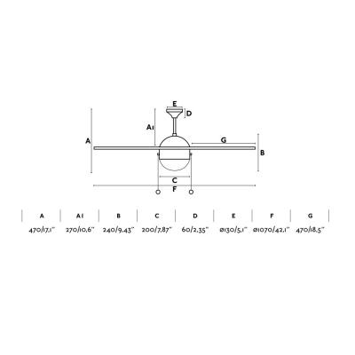 Levné Ventilátory: Reverzní stropní ventilátor s řetízkovým ovládáním FARO VENETO, bílý