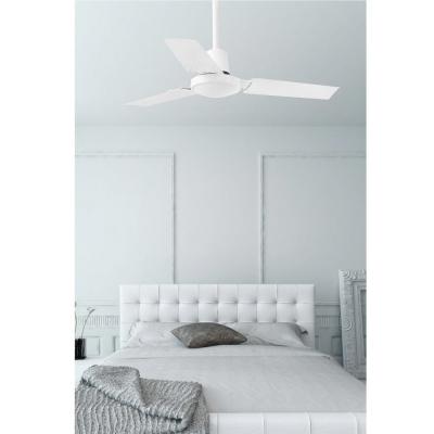Levné Ventilátory: Stropní ventilátor s nástěnným regulátorem rychlosti FARO MINI INDUS, bílý