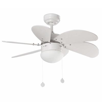 Levné Ventilátory: Reverzní stropní ventilátor s osvětlením na řetízkové ovládání FARO PALAO, bílý
