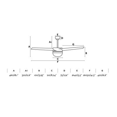 Levné Ventilátory: Reverzní stropní ventilátor na dálkové ovládání s osvětlením FARO EASY, bílý