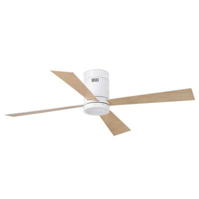 Levné Ventilátory: Reverzní stropní ventilátor s LED osvětlením na dálkové ovládání FARO TIMOR, bílý