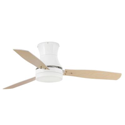 Levné Ventilátory: Reverzní stropní ventilátor s osvětlením na dálkové ovládání FARO TONSAY, bílý