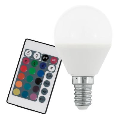 Levné LED žárovky: LED stmívatelná žárovka, E14, P45, 4W, 300lm, teplá bílá + RGB