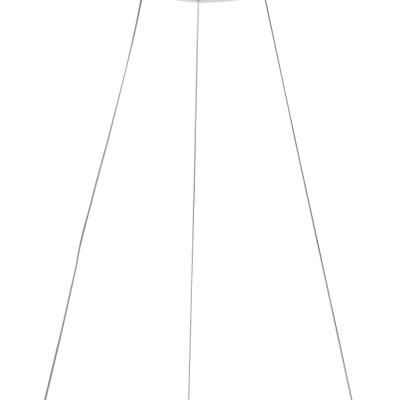 Levné Lustry a závěsná svítidla: Designový LED lustr na lanku LAUREANO, bílý