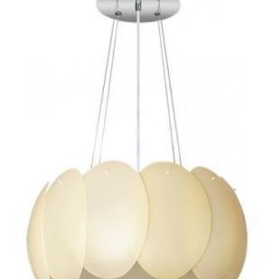 Levné Lustry a závěsná svítidla: Stropní závěsné osvětlení AURORA, 40cm, béžové