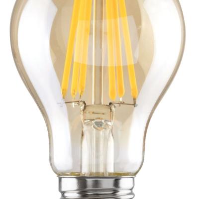 Levné LED diodové žárovky: Filamentová LED žárovka, A60, E27, 10W, 850 lm, teplá bílá