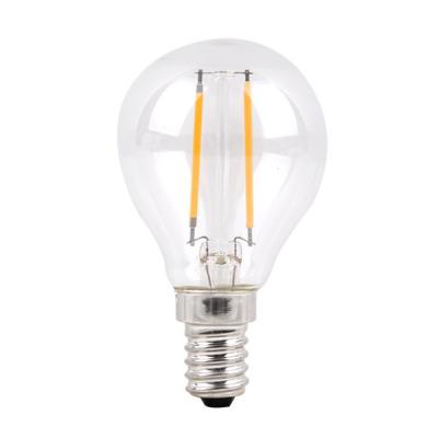 Levné LED diodové žárovky: Stmívatelná filament žárovka, E14, G45, 4W, teplá bílá