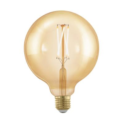 Levné LED diodové žárovky: Retro LED stmívatelná žárovka EGLO, tvar G125, E27, 4W, teplá bílá