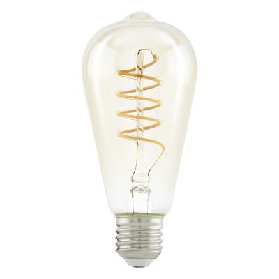 Levné LED diodové žárovky: Retro LED žárovka filamentová EGLO, E27, 4W, teplá bílá