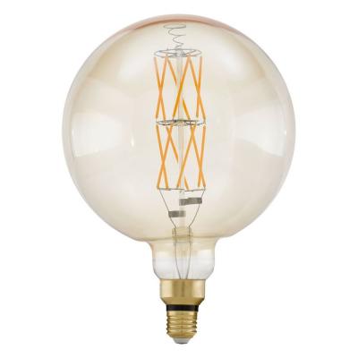 Levné LED diodové žárovky: Retro LED stmívatelná žárovka EGLO, tvar G200, E27, 8W, teplá bílá