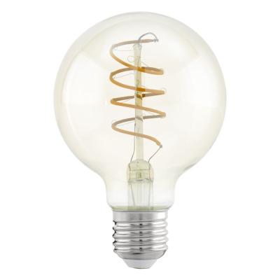 Levné Žárovky a zářivky: Retro LED filamentová žárovka EGLO, E27, G80, 4W, 260lm, 2200K, teplá bílá