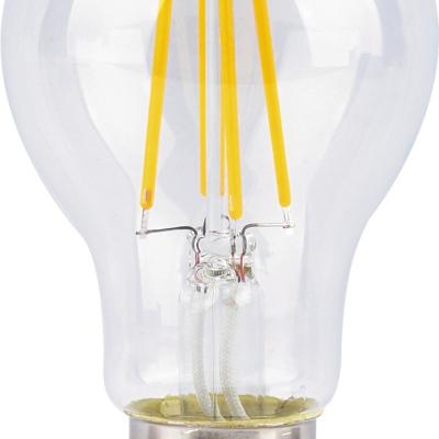 Levné LED diodové žárovky: Filamentová LED žárovka, A60, E27, 10W, teplá bílá