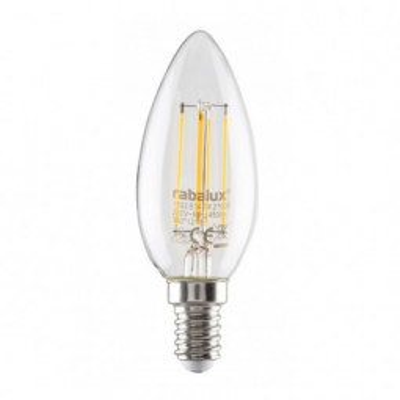 Levné LED diodové žárovky: LED žárovka, C35, E14, 4W, teplá bílá
