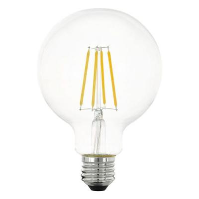 Levné Žárovky a zářivky: LED žárovka G95, E27, 6 W, teplá bílá, (čirá)