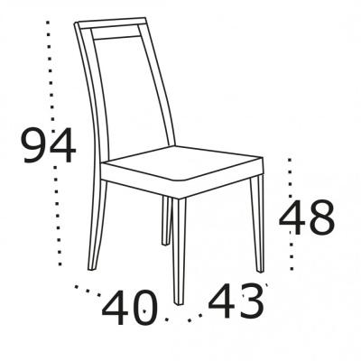 Levné Levné židle a stoličky: Dřevěná jídelní židle Cordelia 4 s čalouněným sedákem - VÝPRODEJ